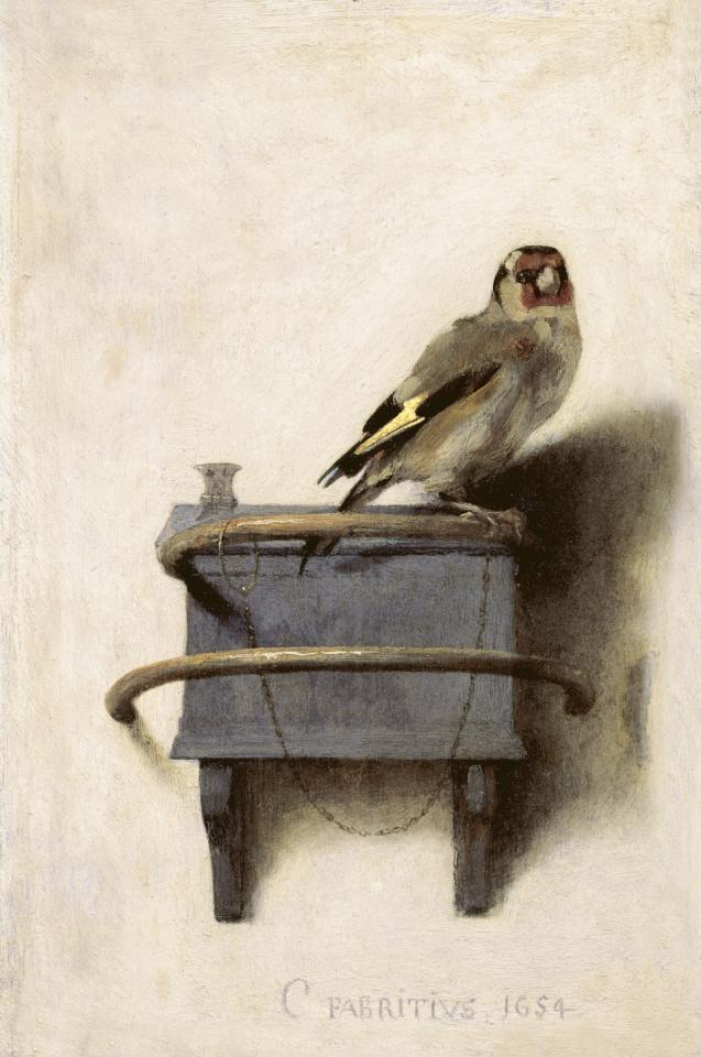 Carel Fabritius, The Goldfinch, 1654