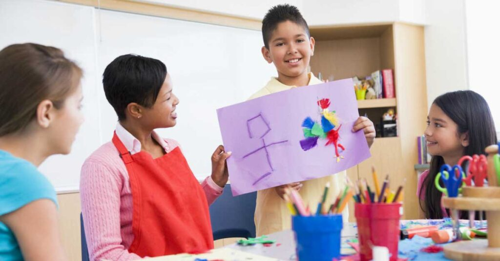 social emotional skills in art class