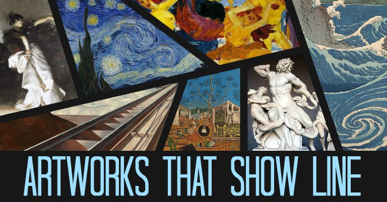 Elements Of Art Line Painting : Artworks that show line