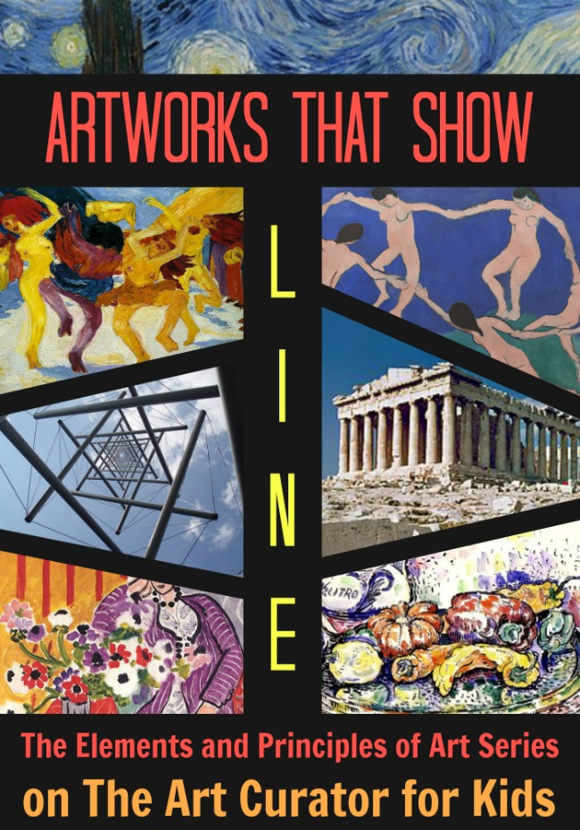 The Art Curator for Kids - Example Artworks that Show Types of Line in Art - The Elements and Principles of Art
