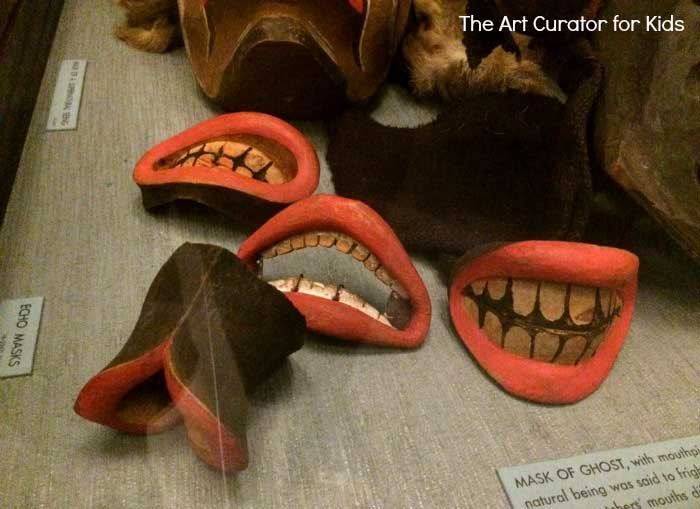 The Art Curator for Kids - Northwest Coast Indian Art Lesson Plans - Kwakuitl Masks - Mouthpieces