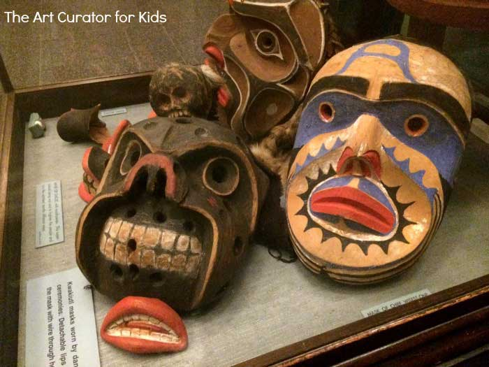 The Art Curator for Kids - Northwest Coast Indian Art Lesson Plans - Kwakuitl Masks