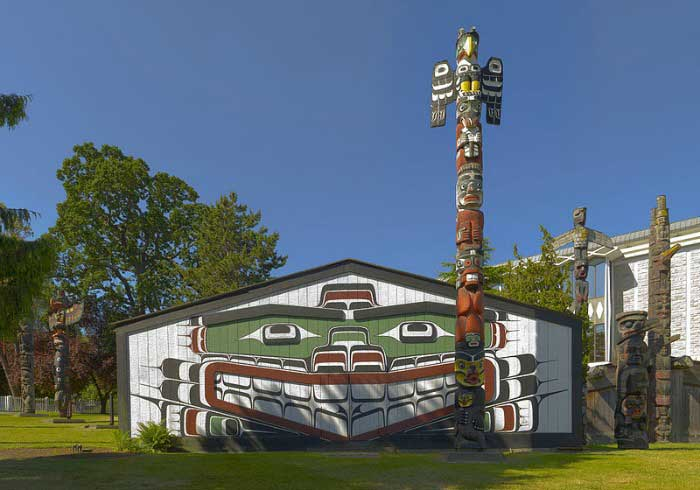 The Art Curator for Kids - Northwest Coast Indian Art Lesson Plans - Kwakwaka'wakwa House - Photo Credit - Ryan Bushby