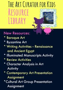 The Art Curator for Kids Resource Library - New Resources