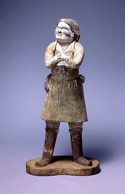 China, Standing Attendant, 7th Century, Met Museum