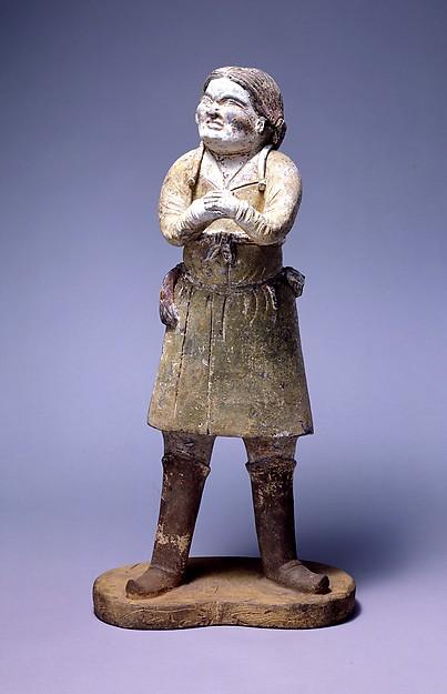 China, Standing Attendant, 7th Century, Met Museum