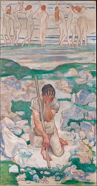 Ferdinand Hodler, The Dream of the Shepherd, 1896, Met Museum
