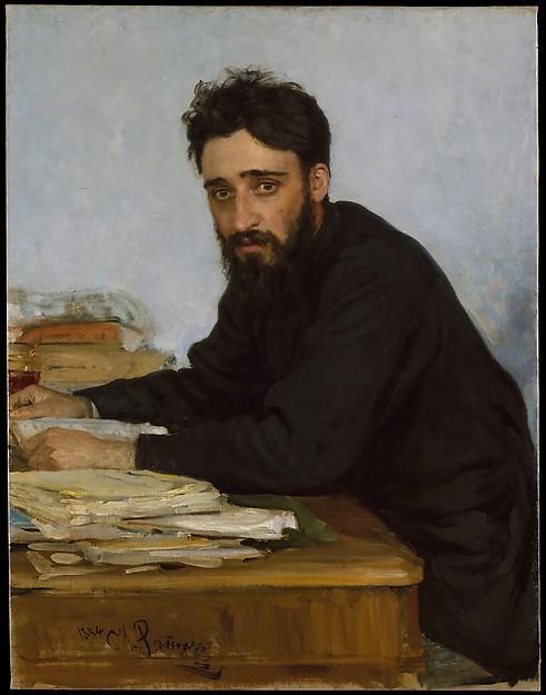 Ilia Efimovich Repin, Vsevolod Mikhailovich Garshin, 1884, Met Museum