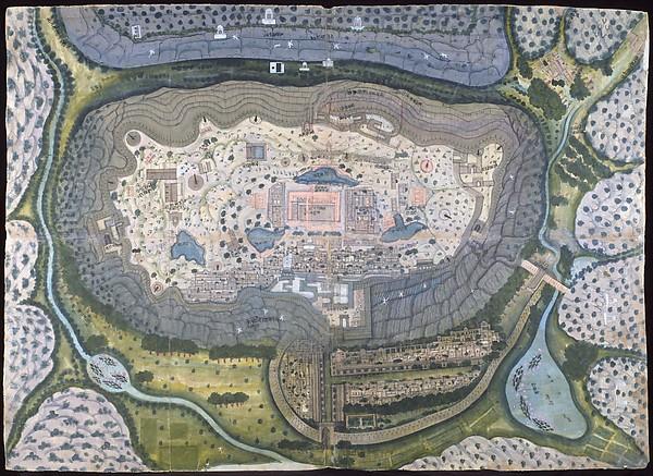 Indian, Fortified City of Ranthambhor, ca. 1810-18, Met Museum