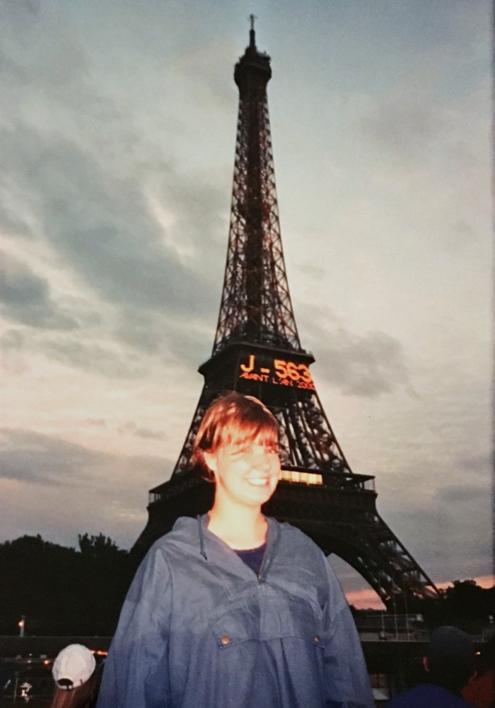 Me at the Eiffel Tower in June 1998