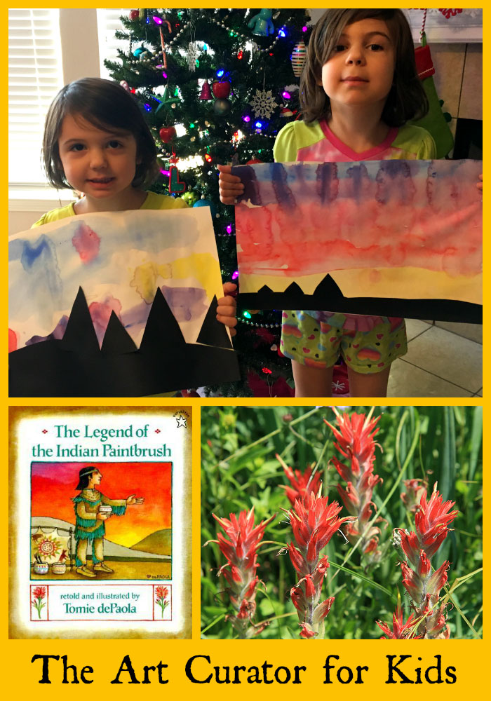 The Legend of the Indian Paintbrush Sunset Art Project
