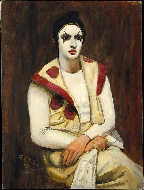 Walt Kuhn, Clown with a Black Wig, 1930