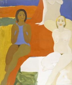 Civil Rights Movement Art - Emma Amos, Three Figures, 1966
