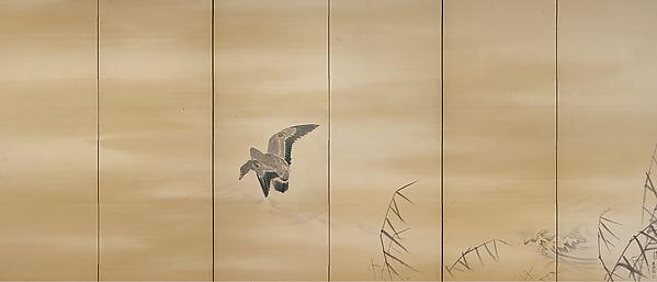 Maruyama Ōkyo, Goose and Reeds, 1774, Met Museum
