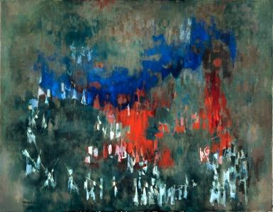 Civil Rights Movement Art - Norman Lewis, Evening Rendezvous, 1962