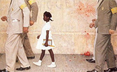 Civil Rights Movement Art - Norman Rockwell, The Problem We All Live With, 1964