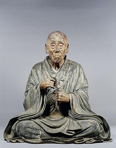 Portrait Statue of Shunjobo Chogen, early 13th century, Todaiji, Nara, Japan