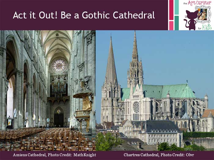 The Art Curator for Kids - Gothic Architecture Lessons Flying Buttress Kinesthetic Activity