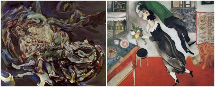 Kokoschka and Chagall - Compare and Contrast