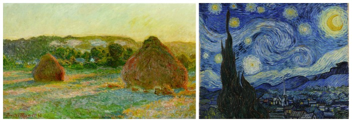 van gogh in comparison with monet essay Monet and van gogh essays no two artists can alone be considered responsible  for the modern art movement, but both vincent van gogh (1853-1890) and.
