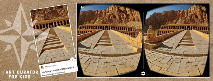 Google Cardboard Art - Mortuary Temple of Hatshepsut