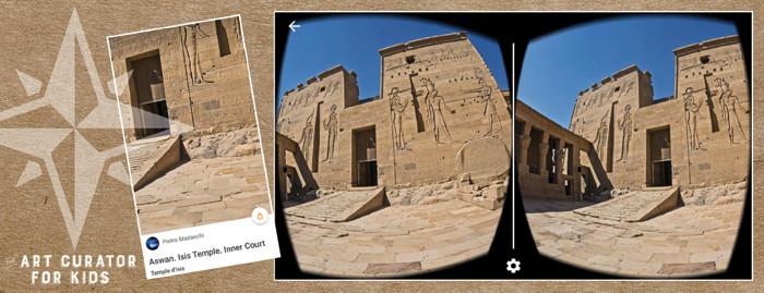 Google Cardboard Art - Aswan Isis Temple Inner Court