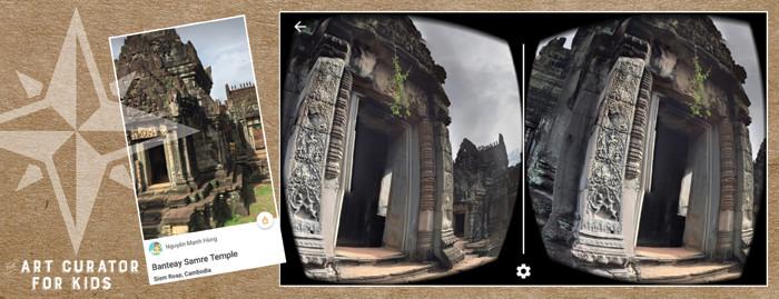 Google Cardboard Art - Cambodia-Banteay Samre Temple
