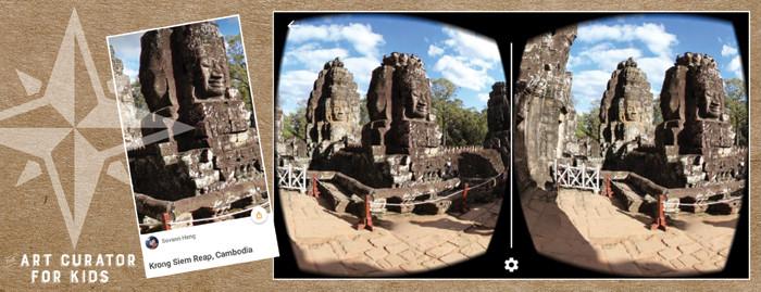 Google Cardboard Art - Cambodia-Krong Siem Reap