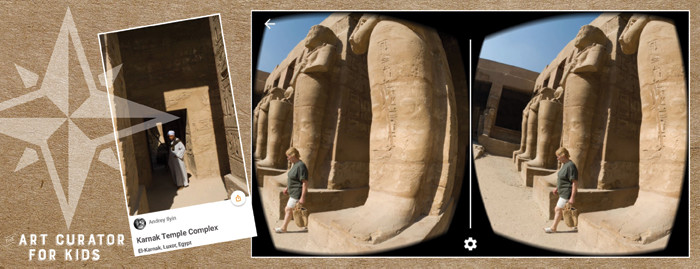 Google Cardboard Art - Egypt-Karnak Temple Complex