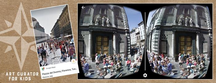 Google Cardboard Art - Florence Italy-Piazza del Duomo