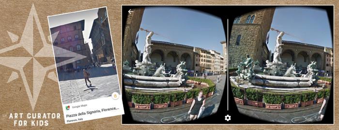 Google Cardboard Art - Florence Italy-Piazza della Signoria