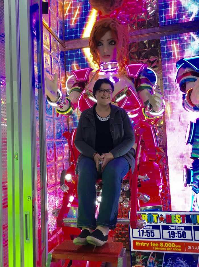 Japan Tokyo Robot Show Exterior with Lady Robot