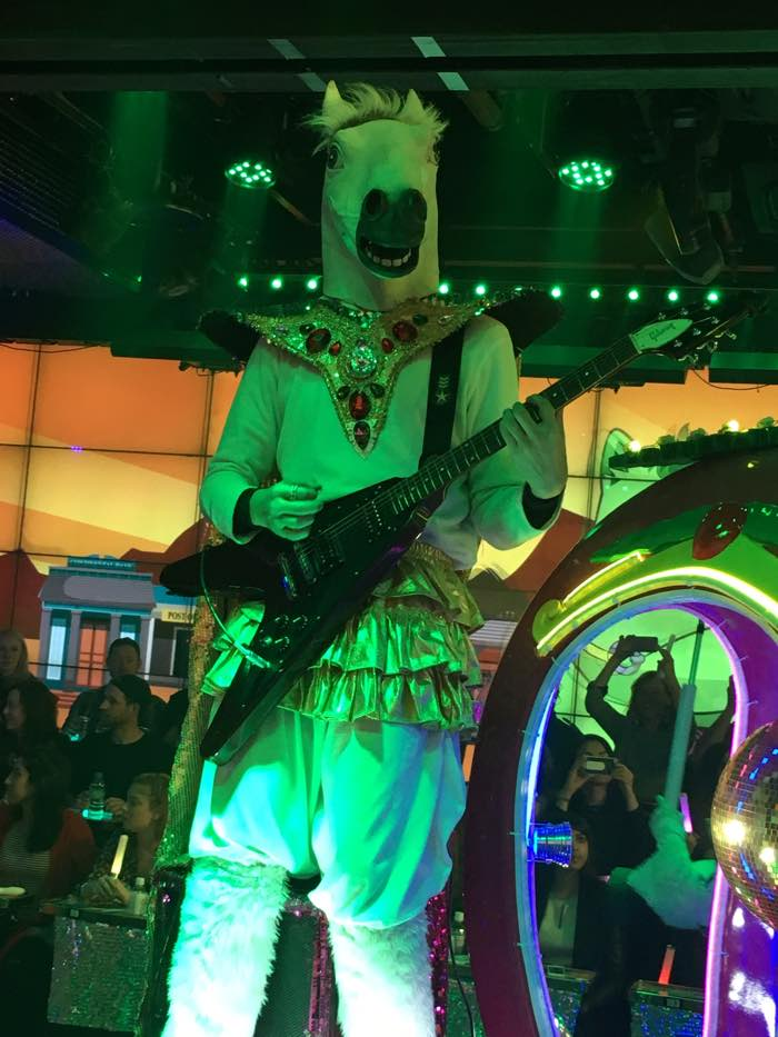 Japan Tokyo Robot Show Horse Guitarist
