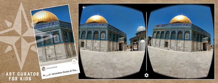 Google Cardboard Art - Jerusalem-Dome of the Rock