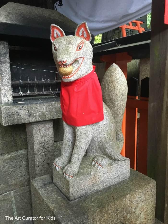 Fushimi Inari Shrine Fox Sculpture