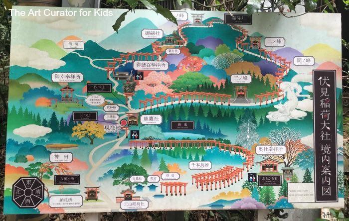Fushini Inari - Map of Torii Gates