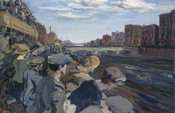Jack Butler Yeats, The Liffey Swim, 1924, Silver Medal for Ireland