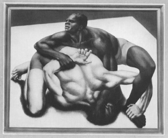 Ruth Miller, Struggle, 1932, Silver Medalist for United States