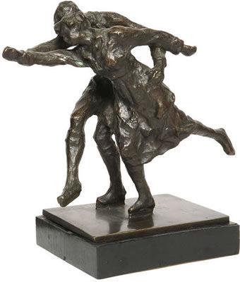 Simon Goossens, Les Patineurs (Skaters), 1920, Silver Medalists for Belgium
