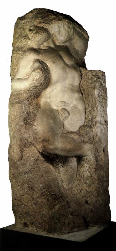 Michaelangelo, The Awakening Slave (Design for Julius II Tomb), 1536