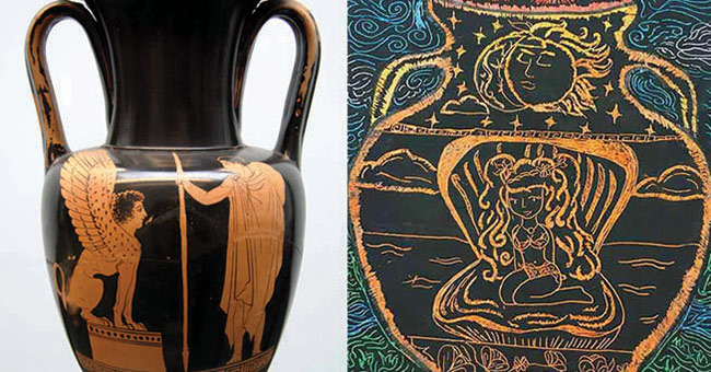 Ancient Greek Amphora Scratch Art Project