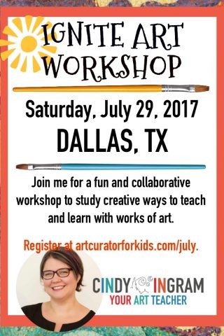 Join me for a summer workshop in Dallas on July 29, 2017!
