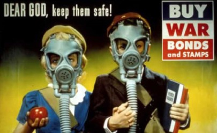 Dear God Keep Them Safe Gas Masks World War II Propaganda