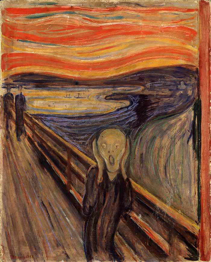 E Munch The Scream edvard munch the scream lesson