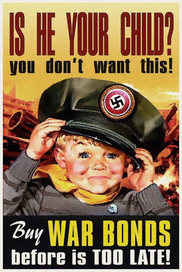 Is he your child - Buy war bonds World War II Propaganda