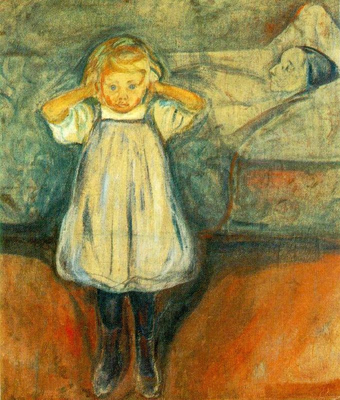 Edvard Munch, The Dead Mother, c.1900 the scream by edvard munch art lesson