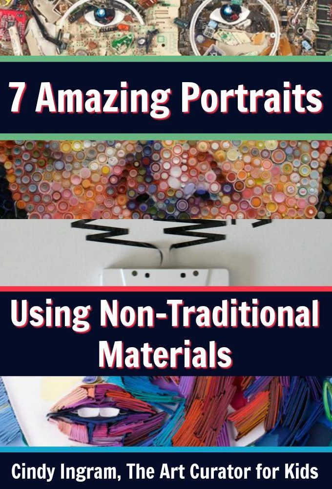 7 Amazing Portraits Using Non-Traditional Materials - PIN