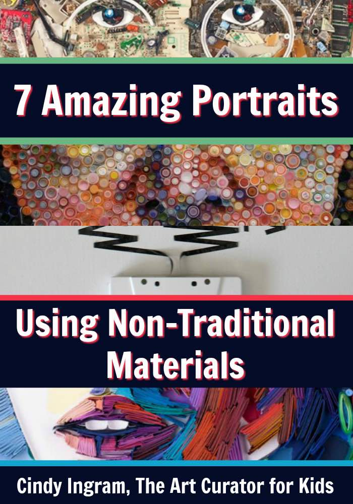 7 Amazing Portraits Using Non Traditional art Materials - PIN