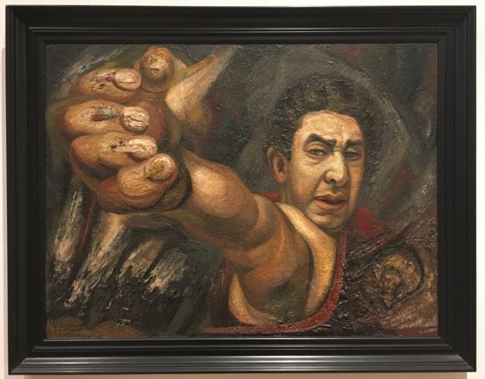 David Alfaro Siqueiros, Self-Portrait, 1945