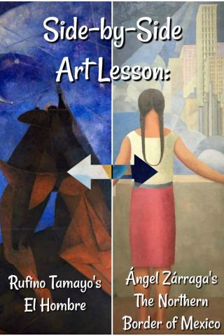 Side-by-Side Art Lesson - American Dream - Mexican Art - PIN